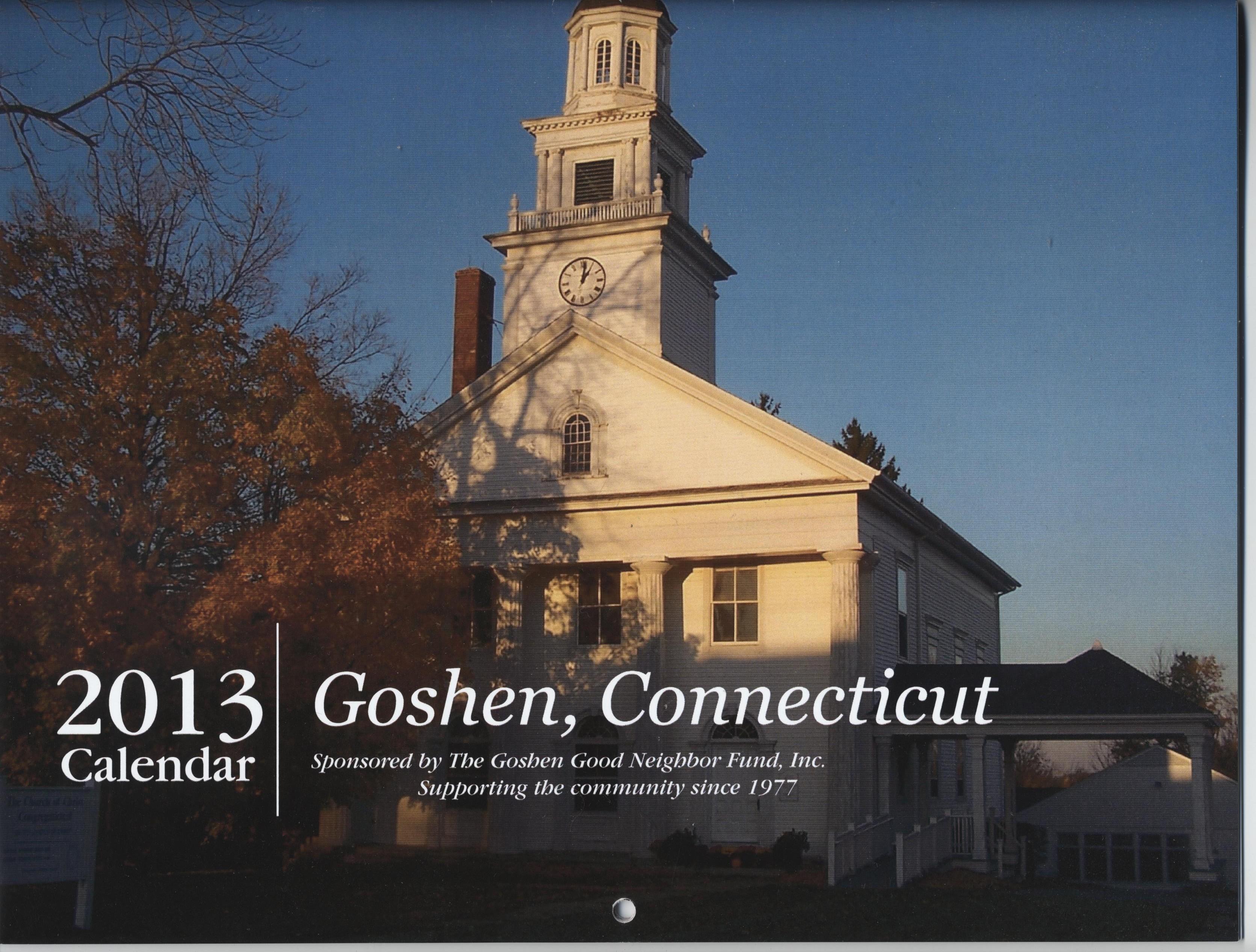Goshen 2013 Calendar 001
